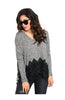 Long Sleeve V-Neck Sweater W/ Crochet Trim - BodiLove | 30% Off First Order  - 1