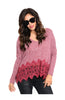 Long Sleeve V-Neck Sweater W/ Crochet Trim - BodiLove | 30% Off First Order  - 3