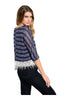 3/4 Sleeve Knit Top W/ Crochet Fringe Trim - BodiLove | 30% Off First Order  - 2