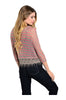 3/4 Sleeve Knit Top W/ Crochet Fringe Trim - BodiLove | 30% Off First Order  - 6