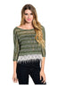 3/4 Sleeve Knit Top W/ Crochet Fringe Trim - BodiLove | 30% Off First Order  - 7