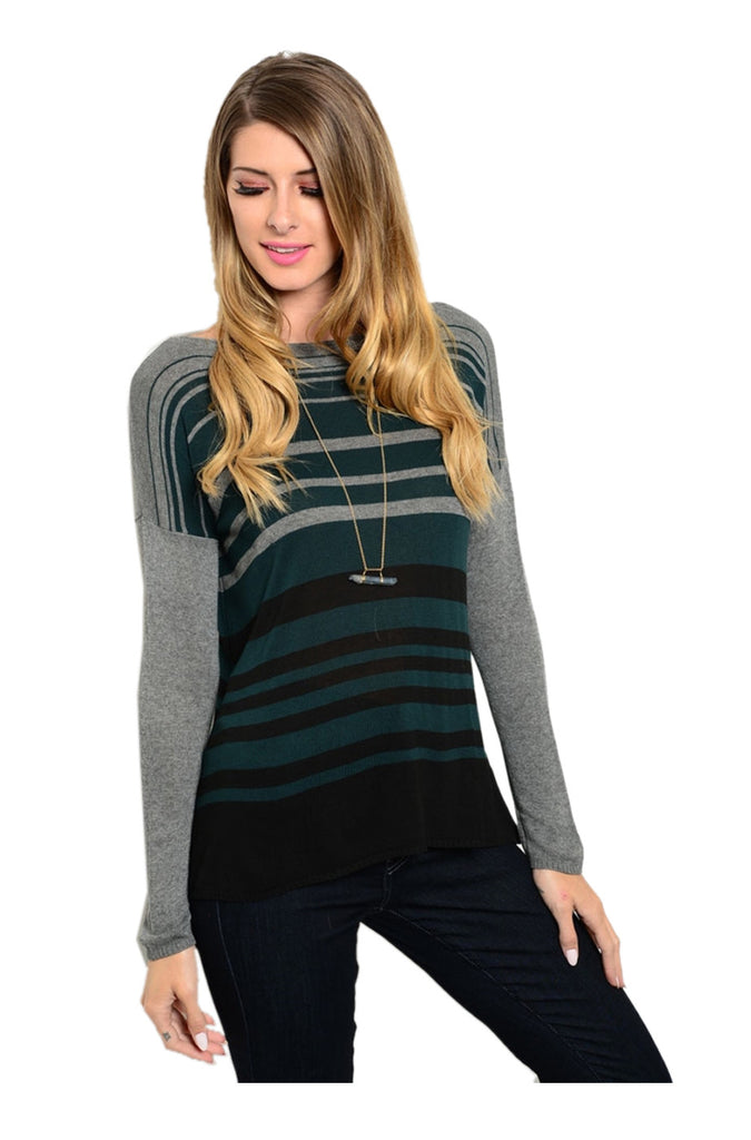 Long Sleeve Lightweight Knit Sweater - BodiLove | 30% Off First Order - 1
