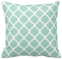 Emvency Set of 4 Throw Pillow Covers Mint Moroccan Green Quatrefoil Gray Watercolour Stripes Arrows Generic Solid Decorative Pillow Cases Home Decor Square 18x18 Inches Pillowcases