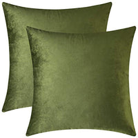 Mixhug Decorative Throw Pillow Covers, Velvet Cushion Covers, Solid Throw Pillow Cases for Couch and Bed Pillows, Pale Yellow, 20 x 20 Inches, Set of 2
