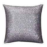 Aremazing Solid Color Glitter Sequins Home Office Decorative Pillowcase Throw Pillow Cushion Cover 16 x 16 Inches (Purple)