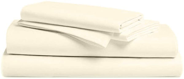 Trivian Life 1000 Thread Count 4 Piece Solid Sheet Set with 2 Pillow Cases 100% Egyptian Cotton Fits Mattress Upto 18'' Deep Pocket, Long Staple Hotel Collection Super Soft Easy Fit (King, White)
