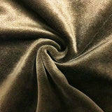 Home Brilliant Set of 2 Solid Velvet Cushion Covers Set Square Throw Pillow Case Covers Decorative Pillowcases for Sofa Couch Bench, 18x18 inch(45 cm),Gold