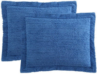 Ellison Richland Chenille Solid Single Standard, Blue Sham, 20 x 26 inches