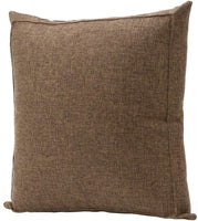 Bursonvic Throw Pillow Case Cushion Cover, Linen Burlap Home Farmhouse/Modern Decorative Square Solid Pillow Cover for Sofa/Couch/Bed (16 x 16 Inches, Dark Brown)