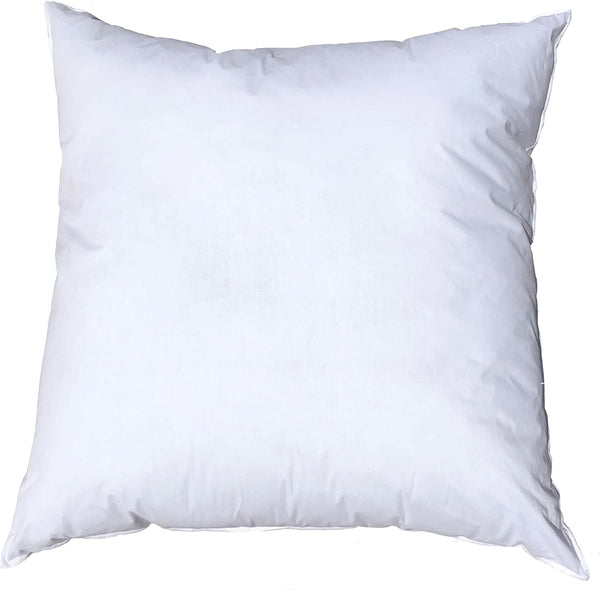Pillowflex 24x24 Inch Premium Polyester Filled Pillow Form Insert - Machine Washable - European Square - Made in USA