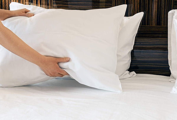 "12 Pillow Cases Covers Standard Size White 130 Thread Count -""B"" Grade Hotel & Healthcare Pillow Cases Bargain Price"