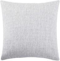 Jepeak Burlap Linen Throw Pillow Cover Rhombus Pattern Cushion Case, Solid Thickened Farmhouse Modern Decorative Square Luxury Pillow Case for Sofa Couch Bed (Off White/Grey, 22 x 22 Inches)
