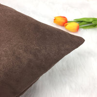YOUR SMILE Pack of 2, Velvet Suede Soft Solid Color Decorative Square Throw Pillow Covers Set Cushion Cases Pillowcases for Sofa Bedroom Car 18 x 18 (Burgundy)
