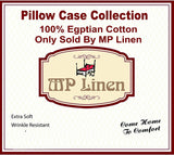 MP Linen White Euro Pillow Shams Set of 2-100% Egyptian Cotton Cushion Cover Euro Size Decorative Pillow Cover Tailored Poplin European Pillow Sham (2 Pack, RV) (Euro 26''x26'', Pinch Ivory Solid)