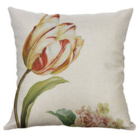 "18"" Cotton Linen Printed flower Pillow Cases Cushion Cover Sofa Home Decor"