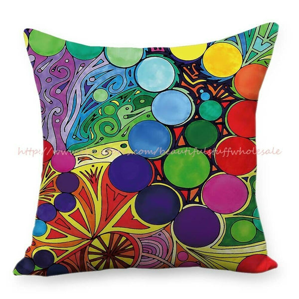 unique pillow cases trippy psychedelic cushion cover