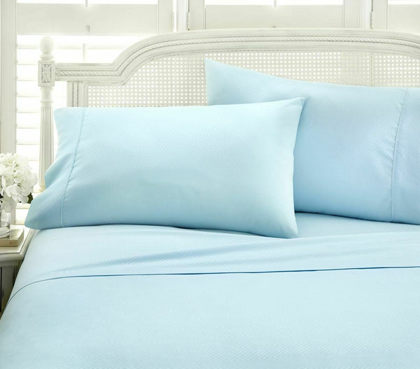 Merit Linens Premium 4 Piece Deep Pocket Queen Sheet Set in Aqua
