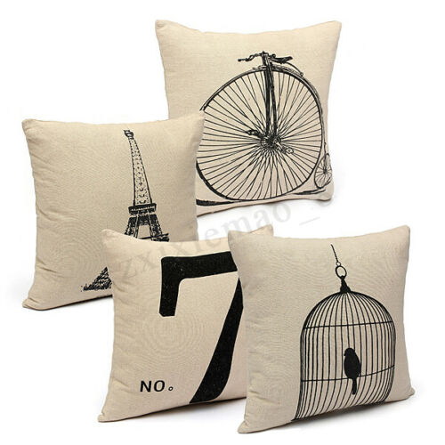 US Fashion Cotton Throw Pillow Cases Home Decorative Cushion Cover Square o n