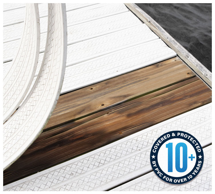 Deck-Top's premium-quality PVC deck cover protects your pre-existing deck or dock from moisture damage.