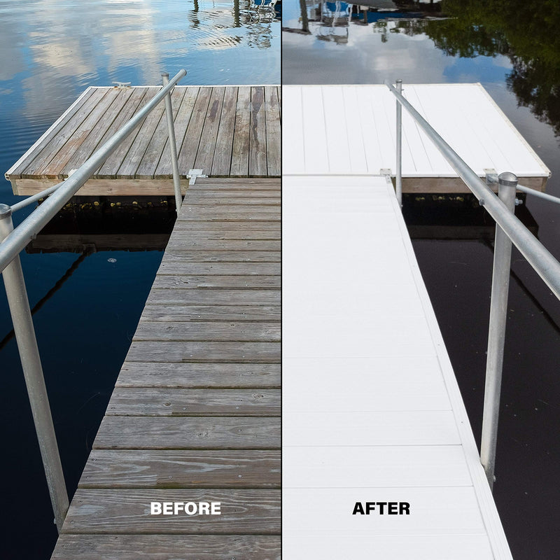 "Premium PVC Deck & Dock Plank Covering (48"" x 54"" Bundle, Classic White)"