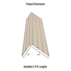 Deck-Top Premium Quality PVC Edge Trim Decking & Dock Cover - (12 ft. Piece)