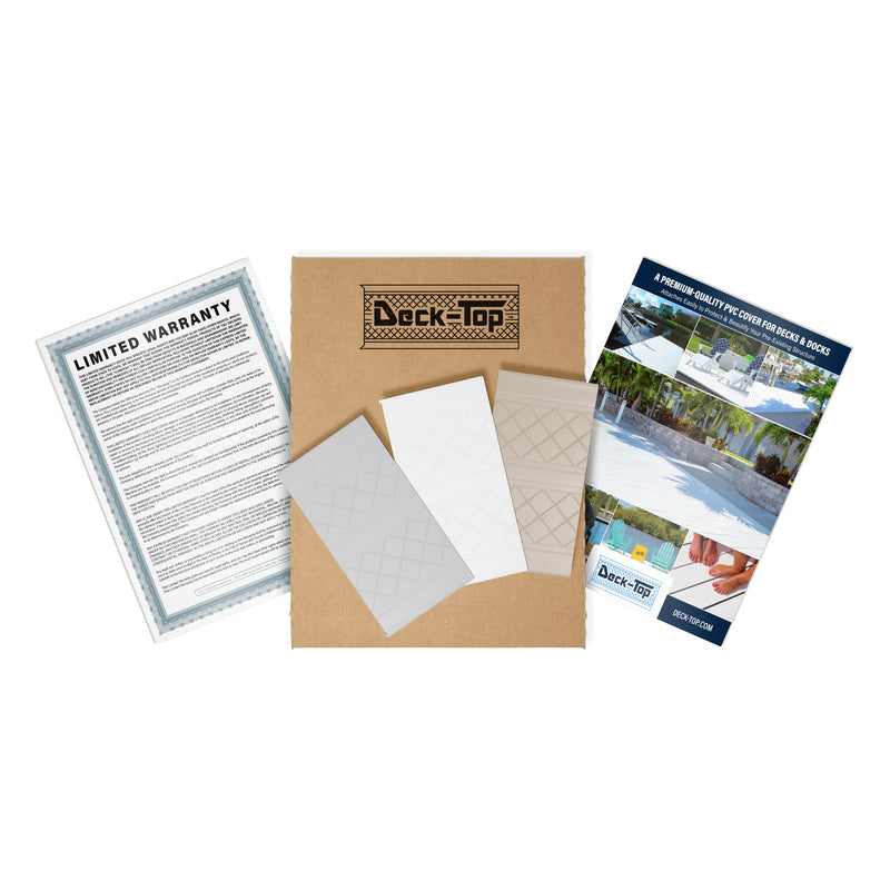 Deck-Top Premium Quality PVC Deck Cover - Sample Kit