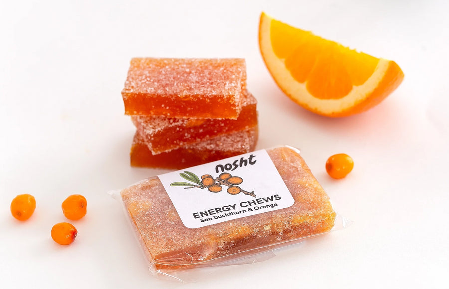 Nosht all natural sea-buckthorn energy chews