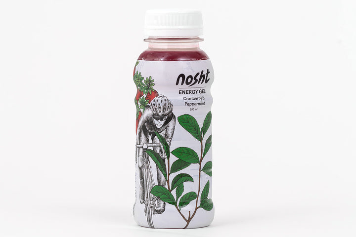 Nosht cranberry and peppermint sports energy gel 250ml