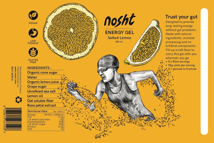 Nosht salted lemon running energy gel 250ml