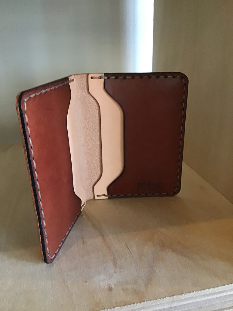 Vertical 4 slot wallet