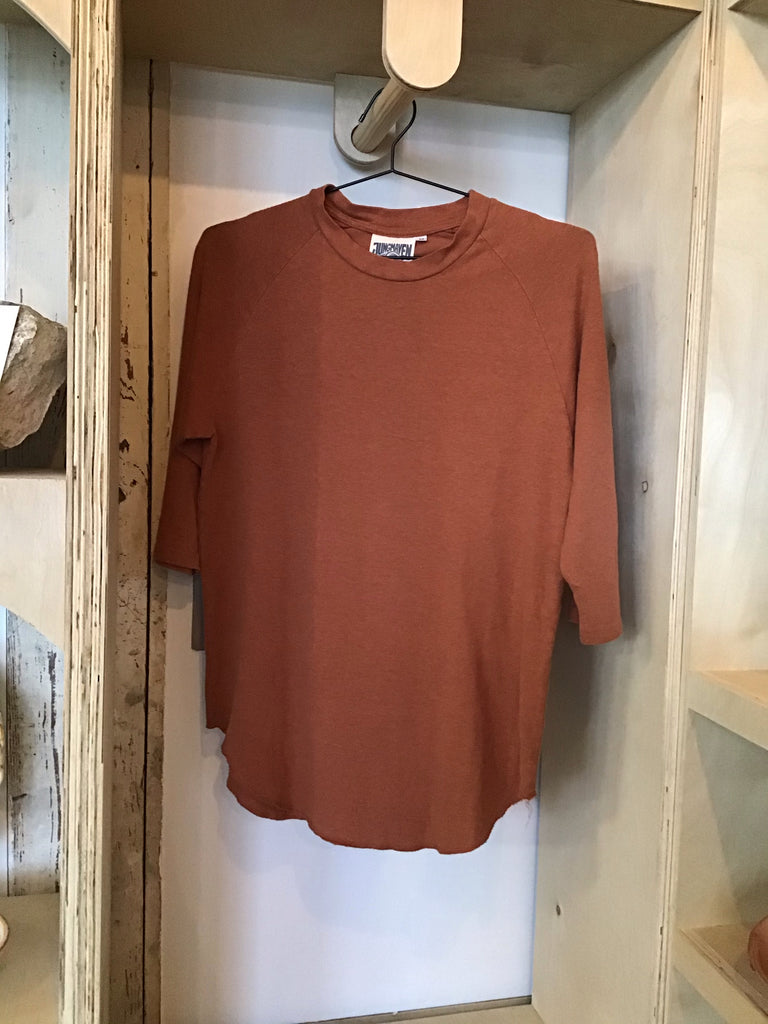 Terracotta 3/4 sleeve T-shirt