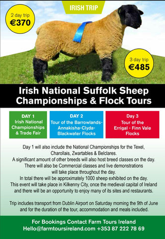 Irish National Suffolk Championship (3 night tour)