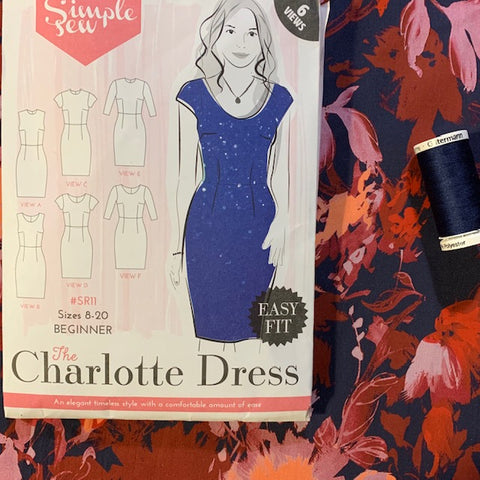 Simple Sew The Charlotte Dress Pattern and Fabric