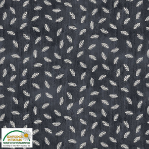 Denim Feathers Cotton Jersey by Stof Fabrics