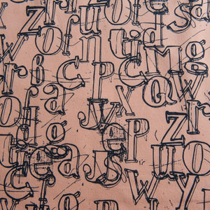 Alphabet French Terry by Stof Fabrics