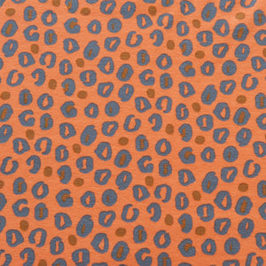 Animal Print Cotton Jersey in Orange