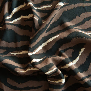 Animal Print Viscose Crepe