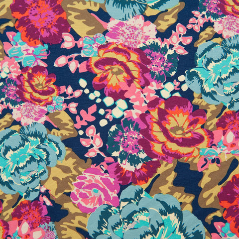 Art Gallery Fabrics - Boho Fusion Acqua Di Rose Premium Cotton Jersey
