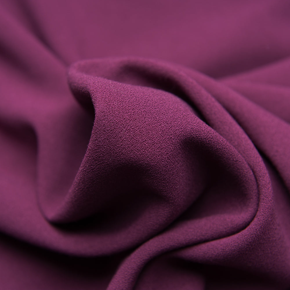 Aubergine Crepe Dress Fabric