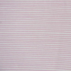 Baby Pink and White Striped Cotton Jersey by Stof Fabrics