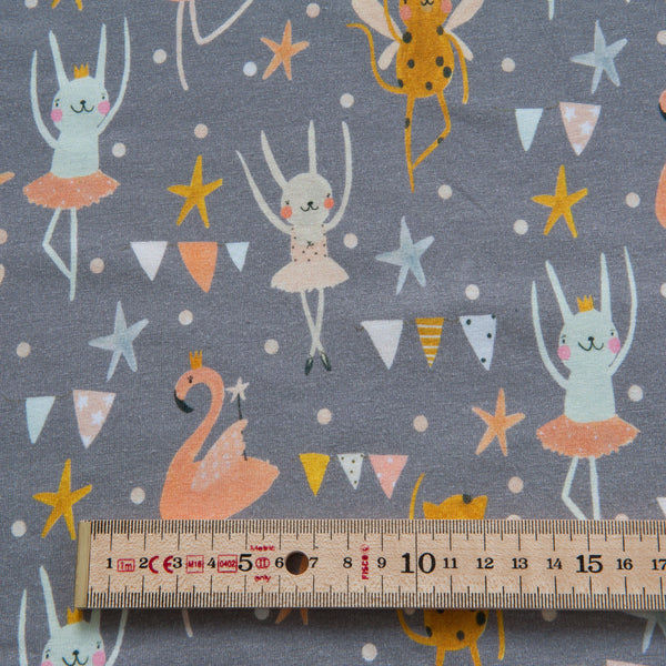 Ballerina Organic Cotton Jersey in Grey