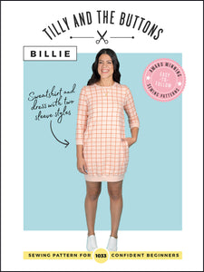 Billie Sweatshirt And Dress - Tilly and the Buttons