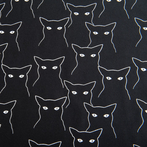 Black Cats Brushed Back Sweatshirt by Stof Fabrics