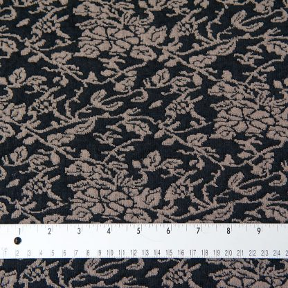 Black and Coffee Floral Jersey