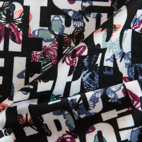 Butterfly Alphabet Brushed Back Sweatshirt by Stof Fabrics