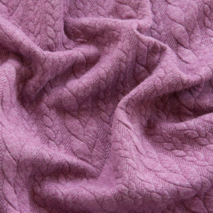 Cable Knit Jacquard Jersey - Grape