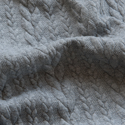 Cable Knit Jacquard Jersey - Grey