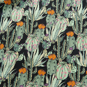 Cactus Pima Cotton Lawn in Black