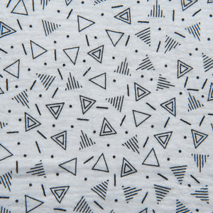 Black and White Geometric Double Gauze