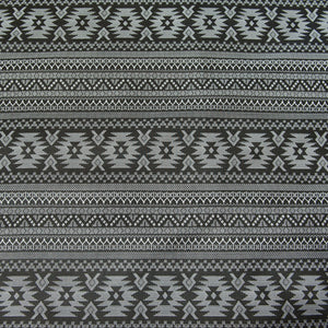 Black Aztec Patterned Jersey Dressmaking Fabric